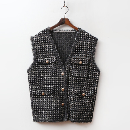 Tweed Knit Vest