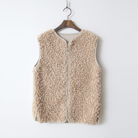 Mix Faux Fur Vest