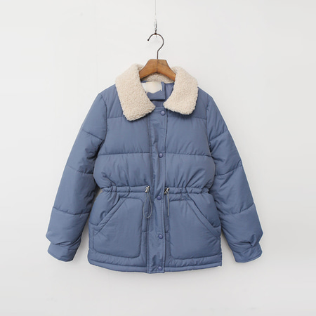 Teddy Collar Puffer Jumper