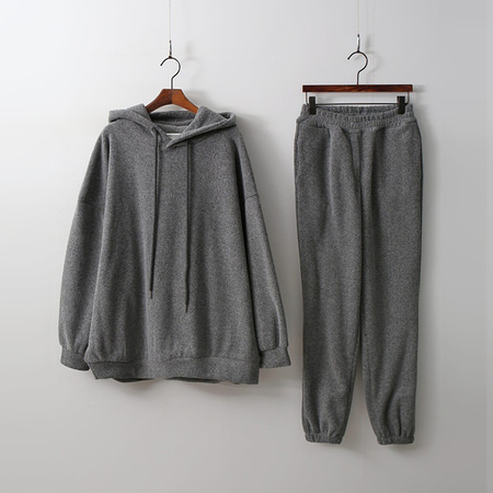 [Set] Warm Hoodie Sweatshirt + Jogger Pants