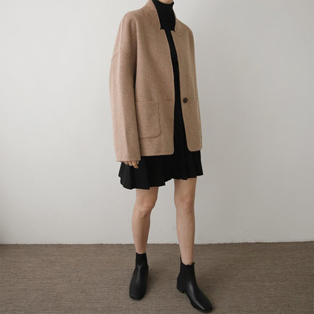 Mohair Wool Coat - 핸드메이드
