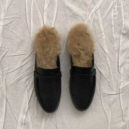 Classic Loafer Mules - 래빗퍼