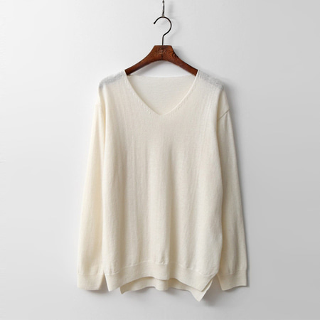 Wool N Cashmere V-Neck Sweater