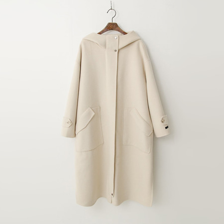 Wool Hood Long Coat - 핸드메이드