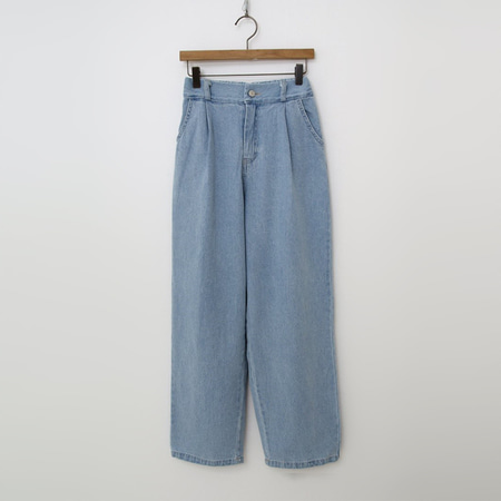 Mimi Pintuck Wide Jeans