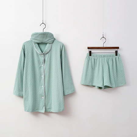 Pastel Dot Pajama Set - 안대포함