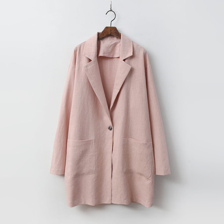 Linen Simple Long Jacket