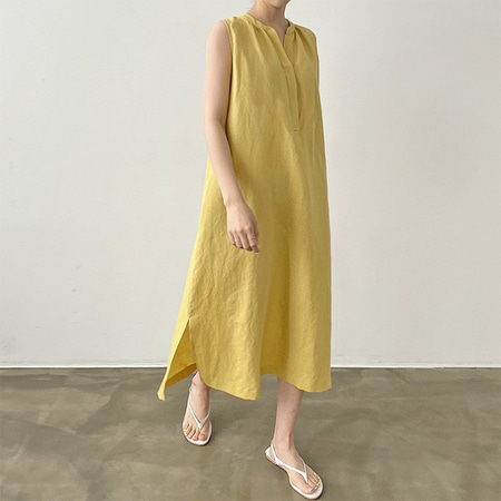 Linen Cotton Jay Long Dress