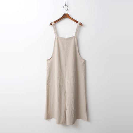 Linen Cotton Wide Jumpsuit