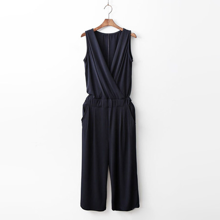 Easy Wrap Wide Jumpsuit