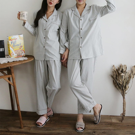 Park Stripe Pajama Set - 커플룩