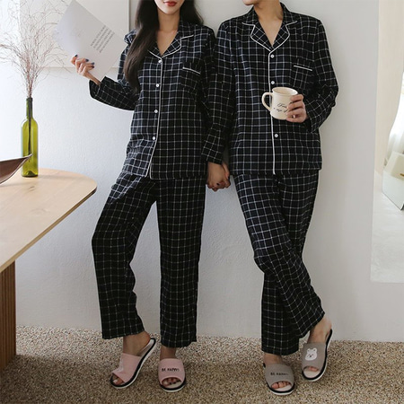 Gimo Square Pajama Set - 커플룩