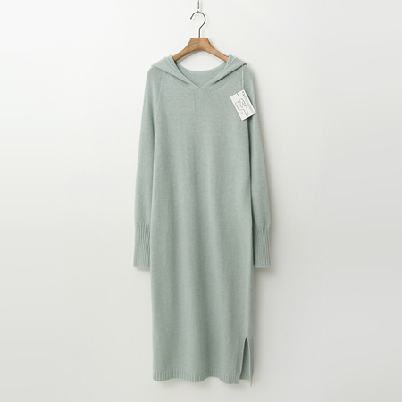 Laine Wool N Cashmere Hood Long Dress
