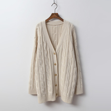 Cashmere N Wool Twist Cardigan