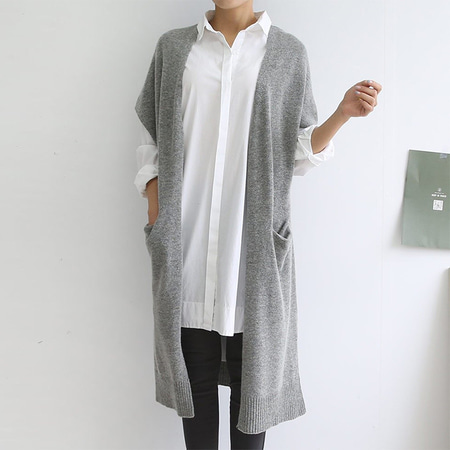 Lamswool Long Shawl Cardigan