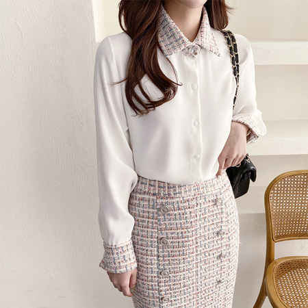 Coco Tweed Blouse
